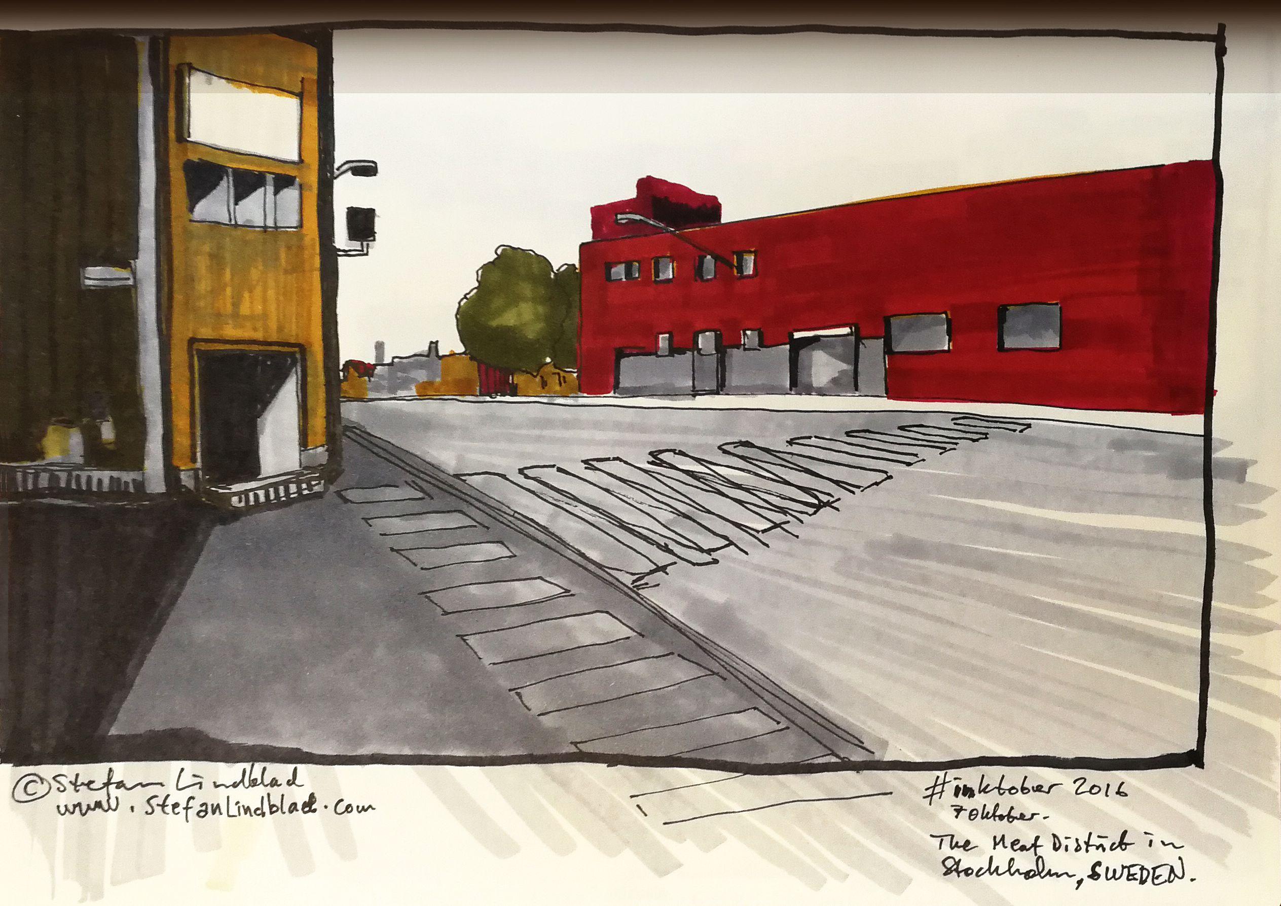 Teckning, drawing, Stefan LIndblad - illustration Sketchbook Inktober