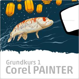Onlinekurs, kurs på svenska i Corel Painter, canvas onlinekurser