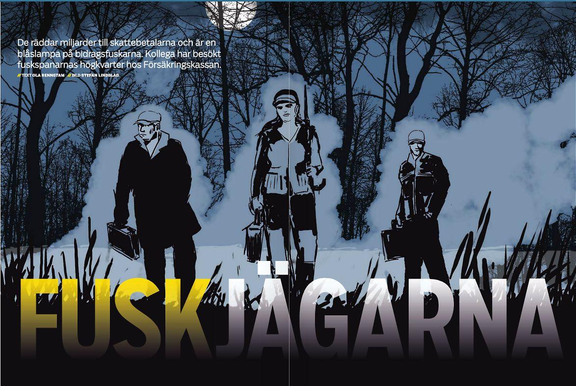 Illustration Stefan Lindblad. Teckningar jag gjort för tidningen Kollega, Unionens tidning