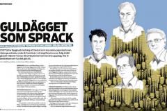 Illustration av Stefan Lindblad, teckning till tidningen Byggnadsarbetaren