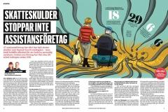 Illustration, Stefan Lindblad, till tidningen Kommunalarbetaren