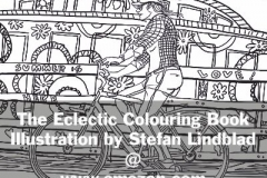 Målarboken The Eclectic Colouring Book, Illustration av Stefan Lindblad, Copyright 2016