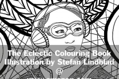 The Eclectic Colouring Book, Stefan Lindblad, illustrationer